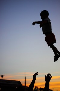 child-being-thrown-fun